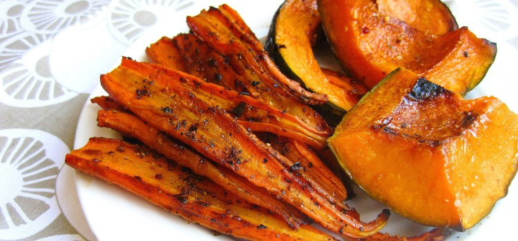 Roasted Carrots and Squash